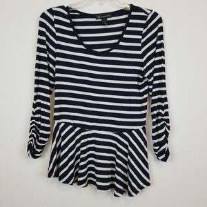INC international concepts striped peplum top
